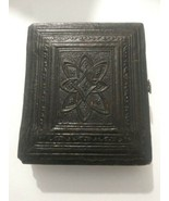 Antique Victorian Gutta Percha Mourning Photo Travel Frame Case - $75.00