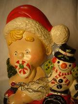 Vaillancourt Folk Art Baby Santa on a Trike with Snowman Signed  image 5