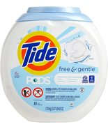 Tide PODS Free And Gentle Laundry Detergent Pacs, Unscented (81 Count) - $29.79