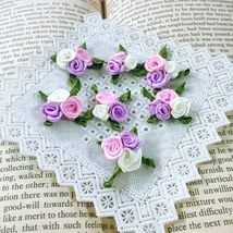 Pastel Fabric Roses,Mini Craft Flowers,Sewing Applique,Doll Making,Craft... - $7.95