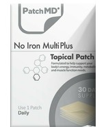 PatchMD NO IRON Multivitamin Plus Topical Vitamin Patch 30 Day Supply Pa... - $15.00