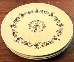Royal USA China Gretchen 4 Dinner Plates Vintage Estate Dutch Lady Yello... - $73.14