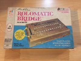 Vintage 1969 Goren's Rolomatic Bridge Card Game Machine Set Milton Bradley - $12.49
