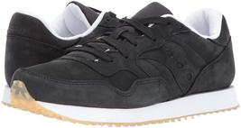 Saucony Originals Mens Black Nubuck Leather DXN Trainer CL Running Sneaker Shoe image 7