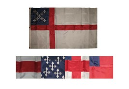 3x5 Embroidered Sewn Episcopal 300D Nylon Flag 3'x5' Banner 3 Clips - $39.63