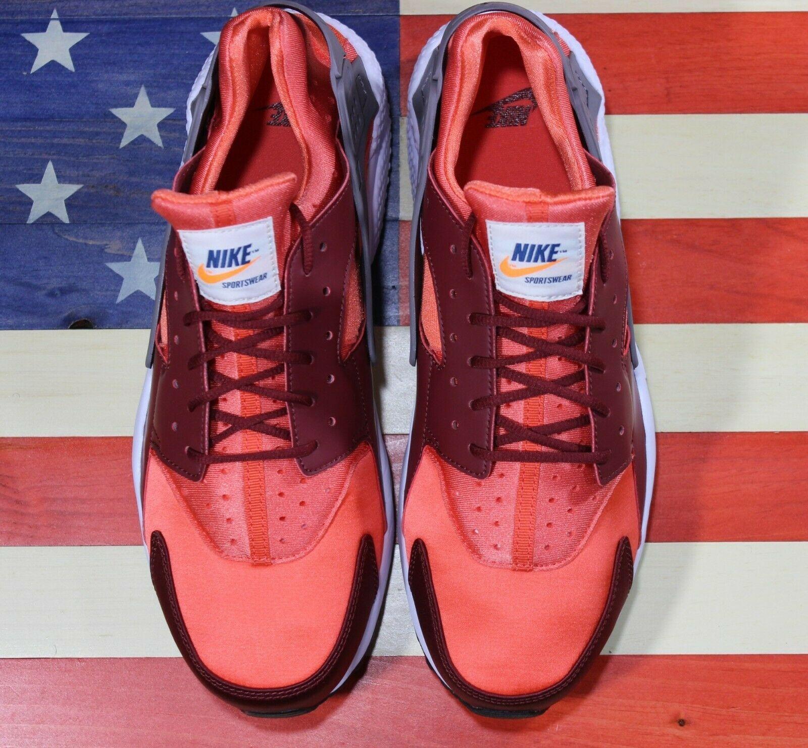 Nike Air Huarache Run Running Shoes Team Red Coral White [318429-054] Men's 11.5 image 11