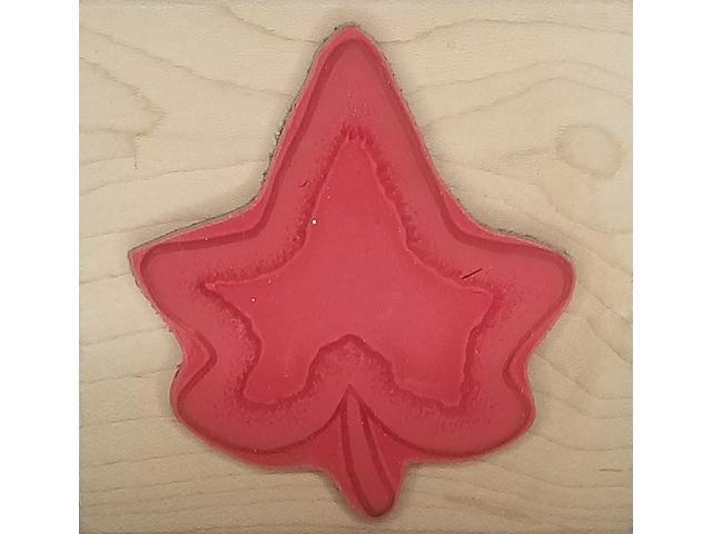 Just for Fun-Wood Mounted Rubber Stamp-Just For Fun2-Sided Leaf