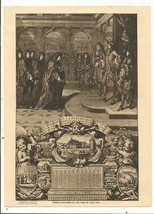 Pictures 1919 French Calendar of The Time Of Louis XIV from Mentor Magazine - $0.99