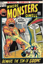 Where Monsters Dwell Comic Book #16, Marvel Comics 1972 FINE+ - $14.98