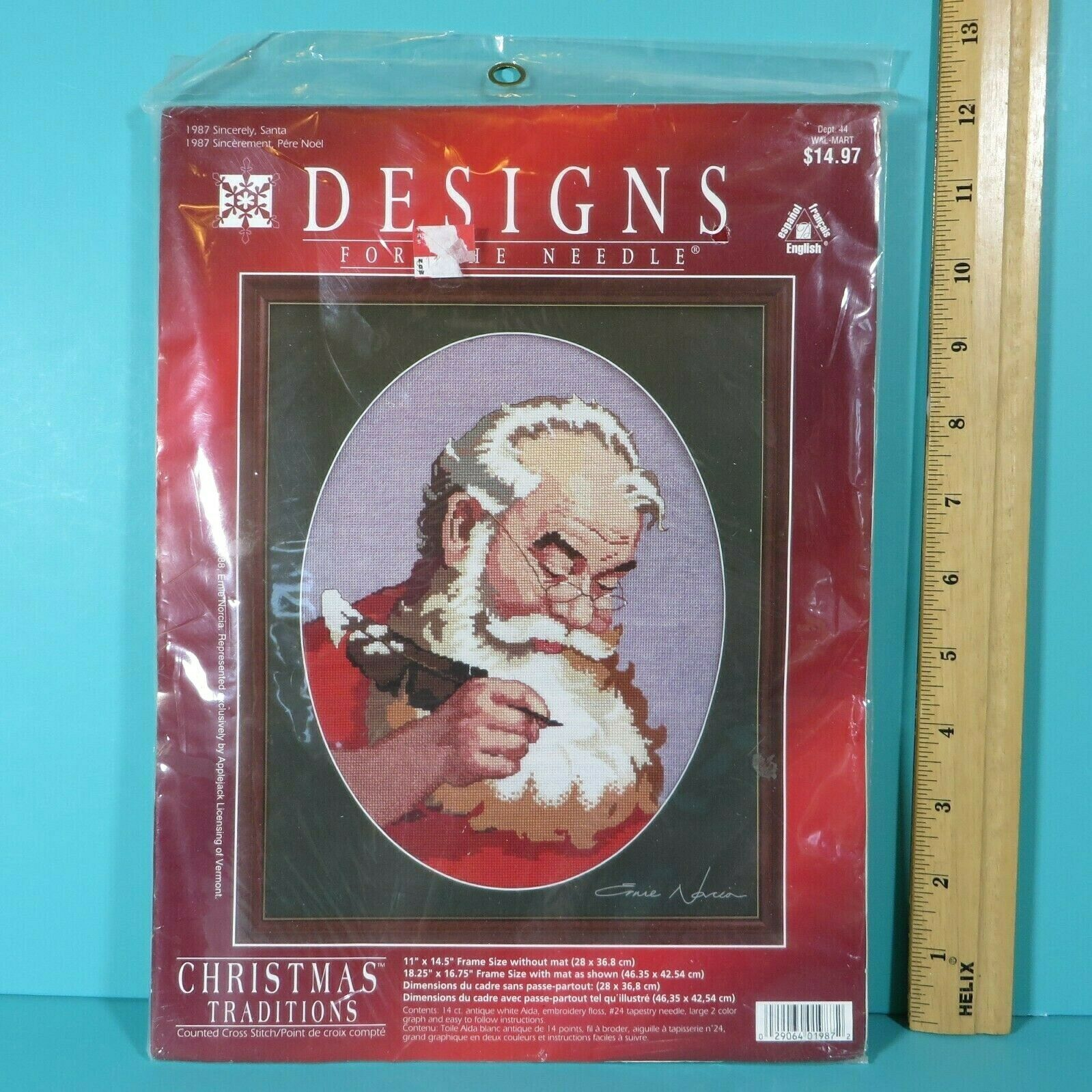 Primary image for Designs For The Needle Christmas Tradition Sincerely Santa 1987 Cross Stitch Kit