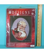 Designs For The Needle Christmas Tradition Sincerely Santa 1987 Cross St... - $9.95