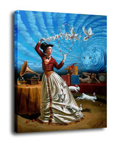 "Cartoon Art Home Decor Oil Painting Print On Canvas""Magic of Trivial Ill... - $13.06+"