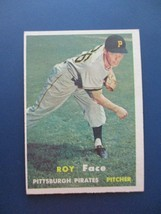 1957 TOPPS BASEBALL CARD #166 ROY FACE PITTSBURGH PIRATES - $3.95