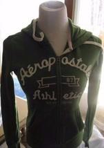 Aeropostale Jacket Small Hooded  Green Athletics 87 New York Zip Front - $5.93