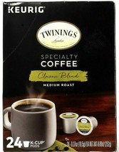 1 Keurig Twinings Specialty Coffee Classic Blend Medium Roast 24Pods BB 5-28-21 - $23.99