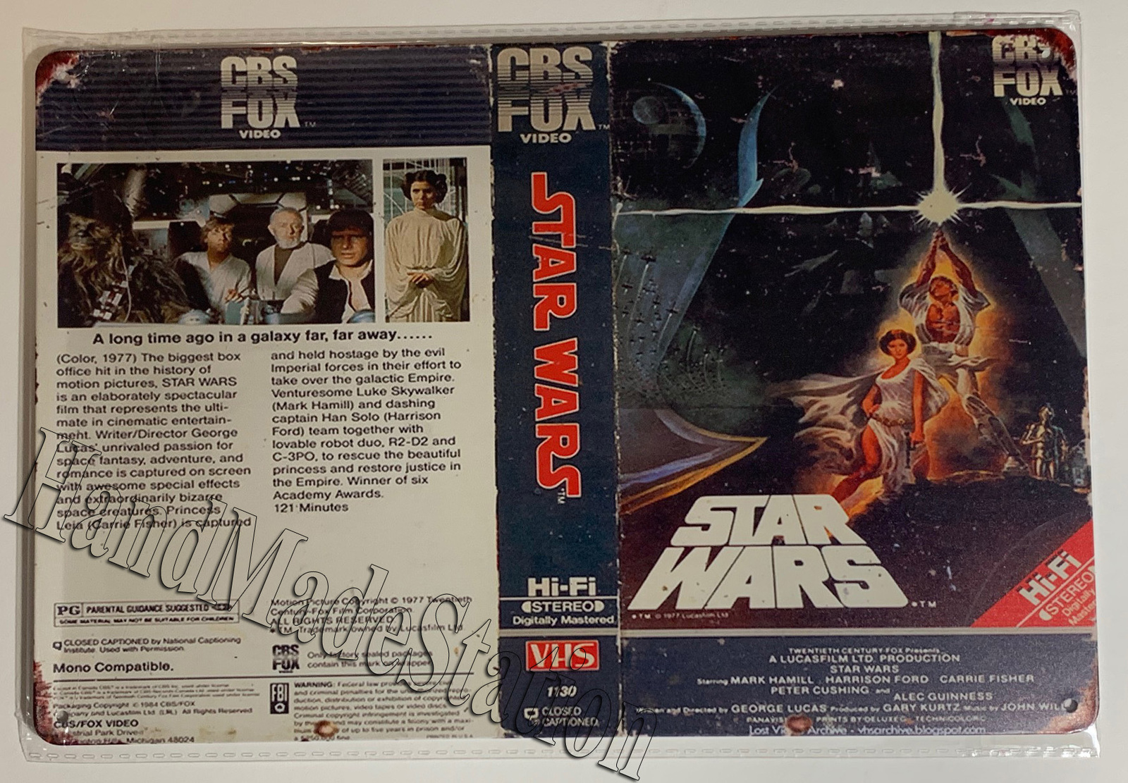 "Star Wars Video tape image poster Wall Metal Sign plate Home decor 11.75"" x 7.8"""
