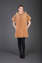 Luxury gift/Light Brown Beaver Fur Vest / Wedding,or anniversary present... - $950.00