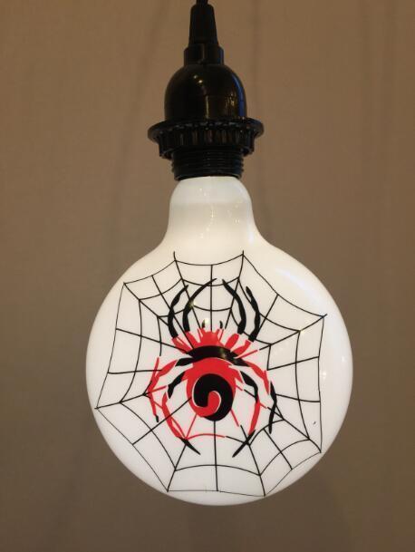 Halloween Spider Theme Decoration Light Bulbs, 4W, E26 Lamp Base