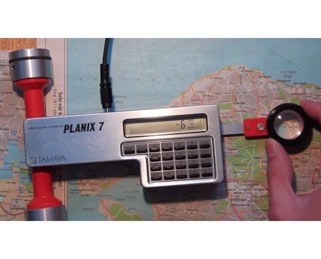 Tamaya Planix 7 Digital Planimeter 365170 Carrying case rechargeable battery