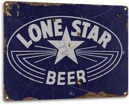 Lone Star Beer Texas Retro Weathered Wall Decor Bar Man Cave Metal Tin Sign - $11.95