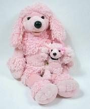 BUILD A BEAR PINK FRENCH POODLE PLUSH DOG & MINI PUPPY SET STUFFED ANIMA... - $29.69