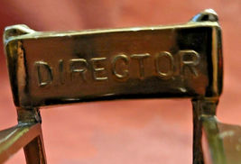 """Vintage Director's Chair Paperweight 2""""  Plaque removed Bottom Front image 6"""