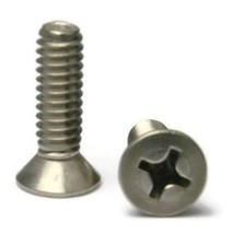 Stainless Steel Flat Head Machine Screws 1/4''-20 x 3/4'' Packedge Quant... - $31.56