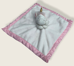 Carter's Bianco Rosa Unicorno Oro Clacson Sicurezza Coperta Lovey Copert... - $10.76