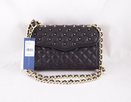 Rebecca Minkoff Mini Quilted Affair with Studs in Black  with Gold Hardware NWT - $191.57