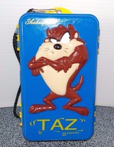 Looney Tunes Blue Taz Two Sided Tinket Box by Shakespeare, Warner Bros Used - $25.71
