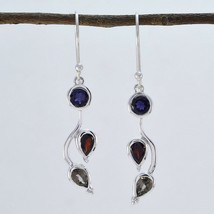 fascinating Multi 925 Sterling Silver Multi Earring Natural jewelry CA gift - $13.27