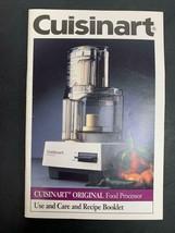 Cuisinart Original Food Processor DLC-10C TX Type 25 Model MANUAL 45 pages - $11.60