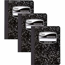 Mead Composition Books/Notebooks, College Ruled Paper, 100 Sheets, 3 Pac... - $21.95