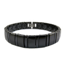 20cm Fashion White Ceramic Bracelet Femme Health Magnetic Hematite Energ... - $39.59