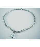 Star of David Charm Stainless Steel Chunky Anklet - $17.00