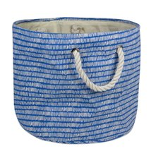 "Polyester Bin Keeping Score Bright Blue Round Medium  12""x15""x15"" - $19.66"