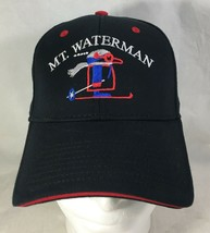 Mt Mount Waterman Baseball Hat Cap Black Red Size S/M Otto-Flex Embroide... - $28.71