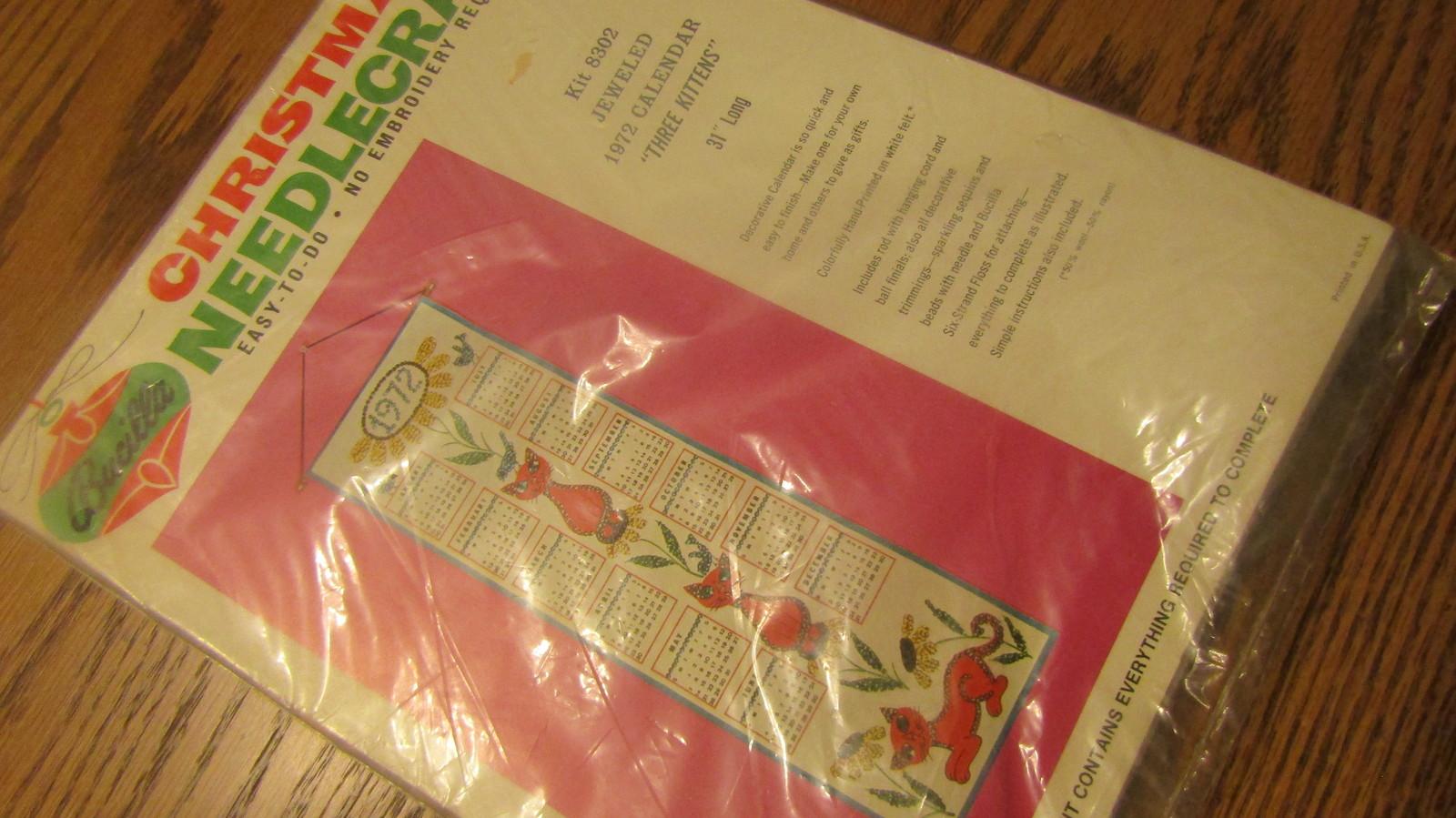 Bucilla 1972 Needlepoint Calendar