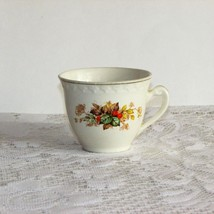 H. AYNSLEY COFFEE CUP TEACUP ANTIQUE RED BERRIES LEAVES ENGLAND VINTAGE ... - $5.30