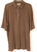 Tommy Bahama Rn 86549 - Brown/Marlin Fish Silk Blend Polo Shirt - Men Size: Med - $48.11