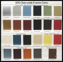 1975 Oldsmobile Ext Color Selection Paint Chip Brochure - $6.53