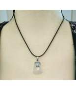 Necklace with Clear Crystal Quartz Pendant with Turtle  Natural Healing ... - $10.88