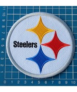 """PITTSBURGH STEELERS FOOTBALL NFL SUPERBOWL 4"""" LOGO PATCH JERSEY SEW EMBR... - $9.99"""