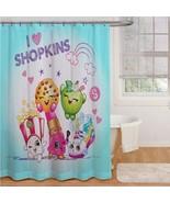 "Shopkins ""I Love Shopkins"" Fabric Shower Curtain and Matching Hooks - $35.53"