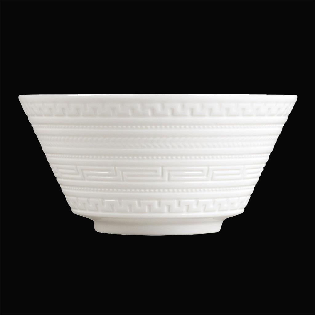 4 Elegant Wedgwood White INTAGLIO Embossed Flare Bone China Cereal Bowls NWT - $69.99