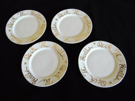 """Deck the Halls Luncheon Plates 7 7/8"""" Rosanna Target White Gold ITALY Se... - $23.52"""