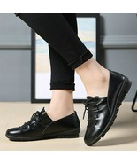 2019 Women's Leather Pumps New Fashion Spring Summer Shoes Leisure Round... - $24.74+