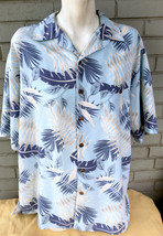 Joe Marlin Hawaiian Floral Palm Large Camp Shirt Tropical Resort - $13.26