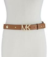Michael Kors Womens Studded Pebble Leather Belt  (Brown, XS) - $58.00