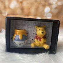 Disney Winnie The Pooh & HUNNY Pot Ceramic Salt & Pepper Shakers Free Sh... - $29.70